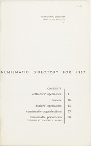 The Numismatic Directory for 1957