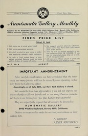Numismatic Gallery Monthly [vol. 1, no. 4]