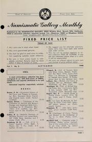 Numismatic Gallery Monthly [vol. 1, no. 5]