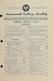 Numismatic Gallery Monthly [vol. 1, no. 3]