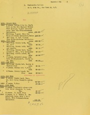 Numismatic Gallery Invoices from B.G. Johnson, December 5, 1945, to December 26, 1945