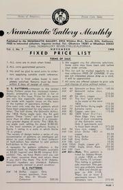 Numismatic Gallery Monthly [vol. 1, no. 7]