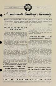 Numismatic Gallery Monthly [vol. 4, no. 1]