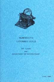 Numismatic Literary Guild By-Laws and Directory of Membership