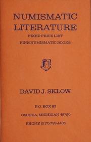 Numismatic Literature Fixed Price List [#1]