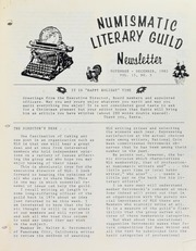 Numismatic Literary Guild Newsletter