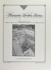 Numismatic Literature Review and Fixed Price List, vol. 1, no. 1