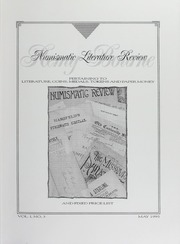 Numismatic Literature Review and Fixed Price List, vol. 1, no. 3