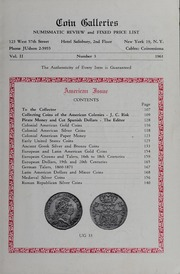 The Numismatic Review and Coin Galleries Fixed Price List