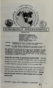 Numismatics International Bulletin, Vol. 4, No.1