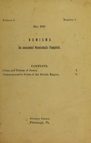 Numisma, vol. 1, no. 1 [1939]