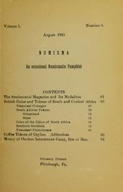 Numisma, vol. 1, no. 5 [1945]