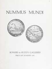 Nummus Mundi: Price List, Summer 1981