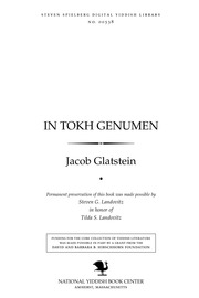 Thumbnail image for In tokh genumen eseyen, 1945-1947