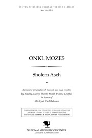Thumbnail image for Onḳl Mozes roman in dray ṭheylen