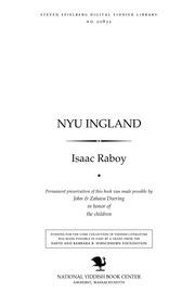 Thumbnail image for Nyu Ingland der pas fun yam : roman