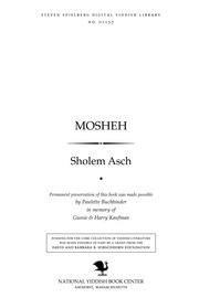 Thumbnail image for Mosheh