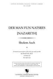 Thumbnail image for Der man fun Natsreʹs [Nazareth]