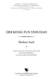 """Thumbnail image for Der Ḳenig fun Yehudah fun der serye """"neviim"""""""