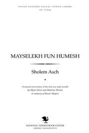 Thumbnail image for Mayselekh fun Ḥumesh