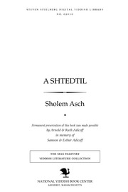 Thumbnail image for A shṭedṭil a poema fun dem Yudishen leben in Poylen