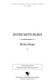 Thumbnail image for Inṭim miṭn bukh meḥabrim, bikher, meynungen