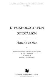 Thumbnail image for Di psikhologye fun sotsyalizm