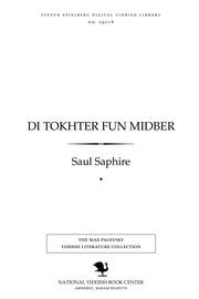 Thumbnail image for Di ṭokhter fun midber origineler biblisher roman fun der tsayṭ fun Mosheh's yugend un goles Mitsra'im