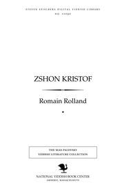Thumbnail image for Zshon Kristof [Jean-Christophe]