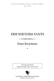 Thumbnail image for Der sheydim-ṭants roman