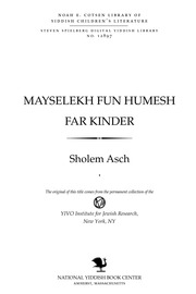 Thumbnail image for Mayśelekh fun Ḥumesh far ḳinder
