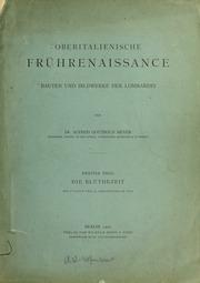 Vol 2: Oberitalienische frèuhrenaissance; bauten und Bildwerke der Lombardei