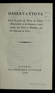 Observations de la chambre r d 39 agriculture et de commerce for Chambre d agriculture paris