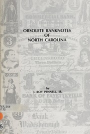 Obsolete Banknotes of North Carolina