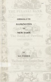Obsolete Banknotes of New York