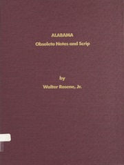 Alabama Obsolete Notes and Scrip