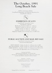 The October 1991 Long Beach Sale
