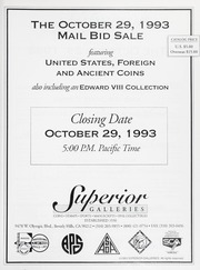 The October 29th, 1993 Mail Bid Sale