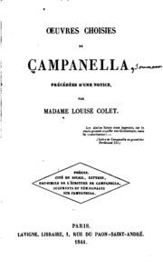 Oeuvres choisies de Campanella: précédées d-une notice