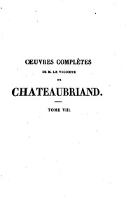 Vol 34: OEUVRES COMPLETES CHANTEAUBRIAND