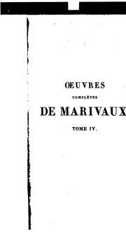 Vol 4: OEuvres completes de Marivaux