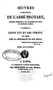 Vol 5: Oeuvres completes de l-abbé Proyart ...