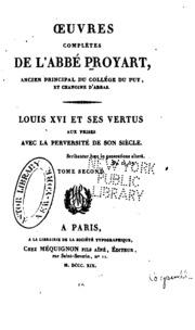 Vol 3: Oeuvres completes de l-abbé Proyart ...
