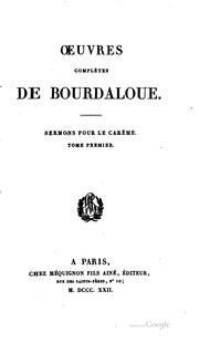 Vol 18: Oeuvres complètes de Bourdaloue