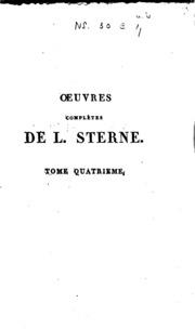 Vol 4: Oeuvres complètes de L. Sterne
