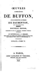 Oeuvres complètes de Buffon: avec les descriptions anatomiques de Daubenton ...