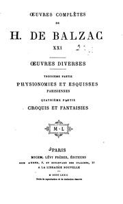 Vol 21: Oeuvres complètes de H. de Balzac ...