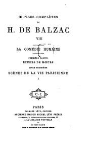 Vol 8: Oeuvres complètes de H. de Balzac ..
