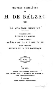 Oeuvres complètes de H. de Balzac ...