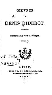 Vol 16: Oeuvres de Denis Diderot